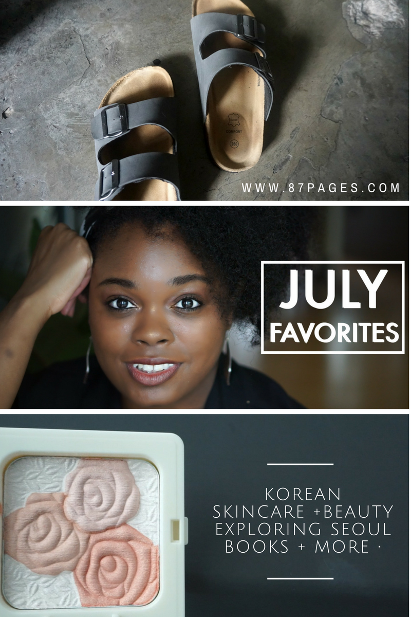 I'm moving out of my comfort zone and adding a new series to the blog and my YouTube channel, called monthly favorites. I thought this would be an easier way to share what I'm loving at the moment. A perfect way to organize my randomosity. So expect to see more about Korean skincare and beauty, wanderlust, and lifestyle.