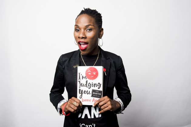 NEW YORK, NY - SEPTEMBER 14: Luvvie Ajayi poses for a portrait in New York on Wednesday Sep. 14, 2016. (Photo by Damon Dahlen, Huffington Post)
